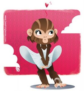 BEATRIZ IGLESIAS monkey